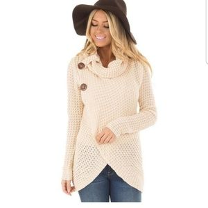 SUPER CUTE COWL TURTLENECK SWEATER!!